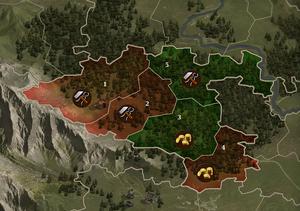 Karte Breturia - teileingenommen