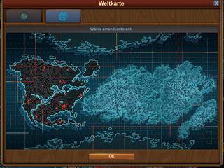 Weltkarte-Fenster Virtuelle Zukunft