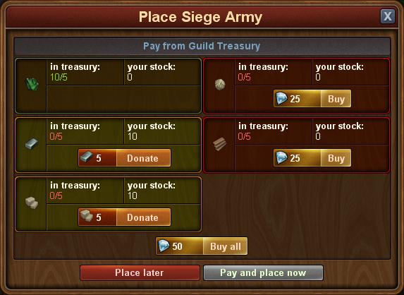 Siege army