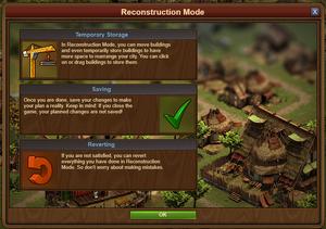 Building mode description Forge of Empires