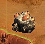 Fundstätte Mars-Erze