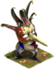 Zanni Mask Statue