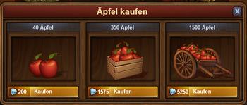 Äpfel kaufen