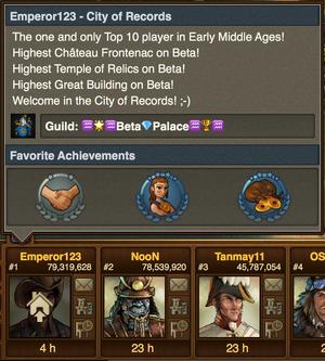 Achievements Display