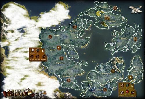 Foe Karte Der Kontinente Arktische Zukunft.Provinzen Forge Of Empires Wiki Fandom Powered By Wikia