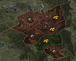 Karte Santa Nerea (Ausschnitt, teileingenommen)