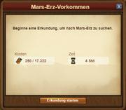 Mars-Erz-Vorkommen - Erkundung