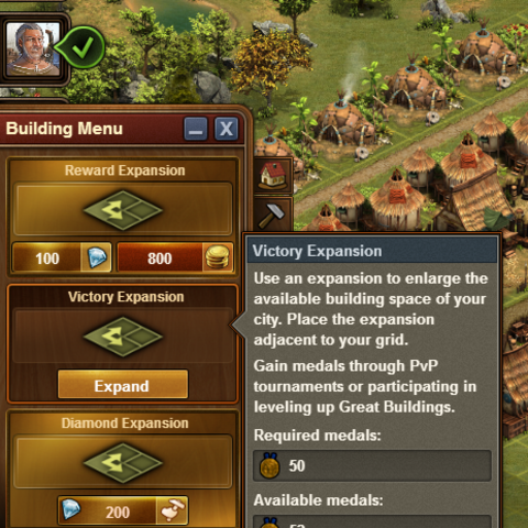 Second Victory expansion costing 50 <a href=