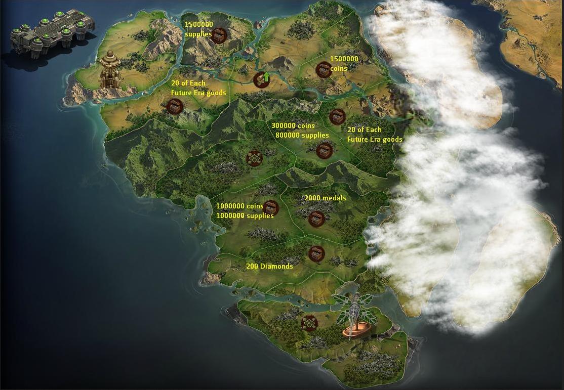 Map Future Era Forge of Empires