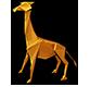 Origami giraffe
