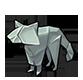 Origami raccoon