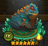 Blue golden frog IX