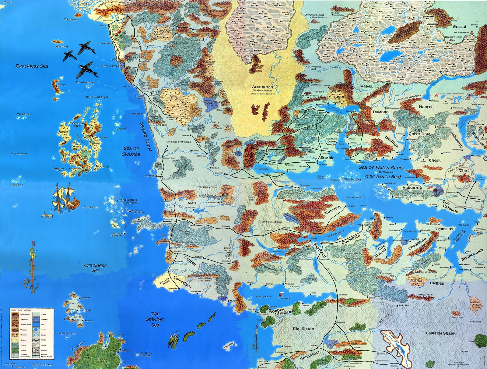 Forgotten Realms Map Image   Map   Faerun   2E. | Forgotten Realms Wiki | FANDOM  Forgotten Realms Map