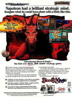 Blood & Magic magazine ad