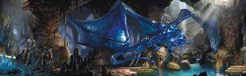 Sapphire dragon in lair-5e