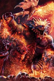 Dragonborn barbarians - Steve Argyle