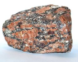 Granite with garnet
