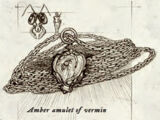 Amber amulet of vermin