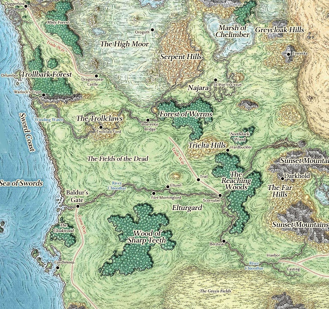 Map Of Forgotten Realms Western Heartlands | Forgotten Realms Wiki | FANDOM powered by Wikia