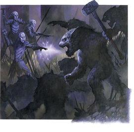 Quaggoths attack