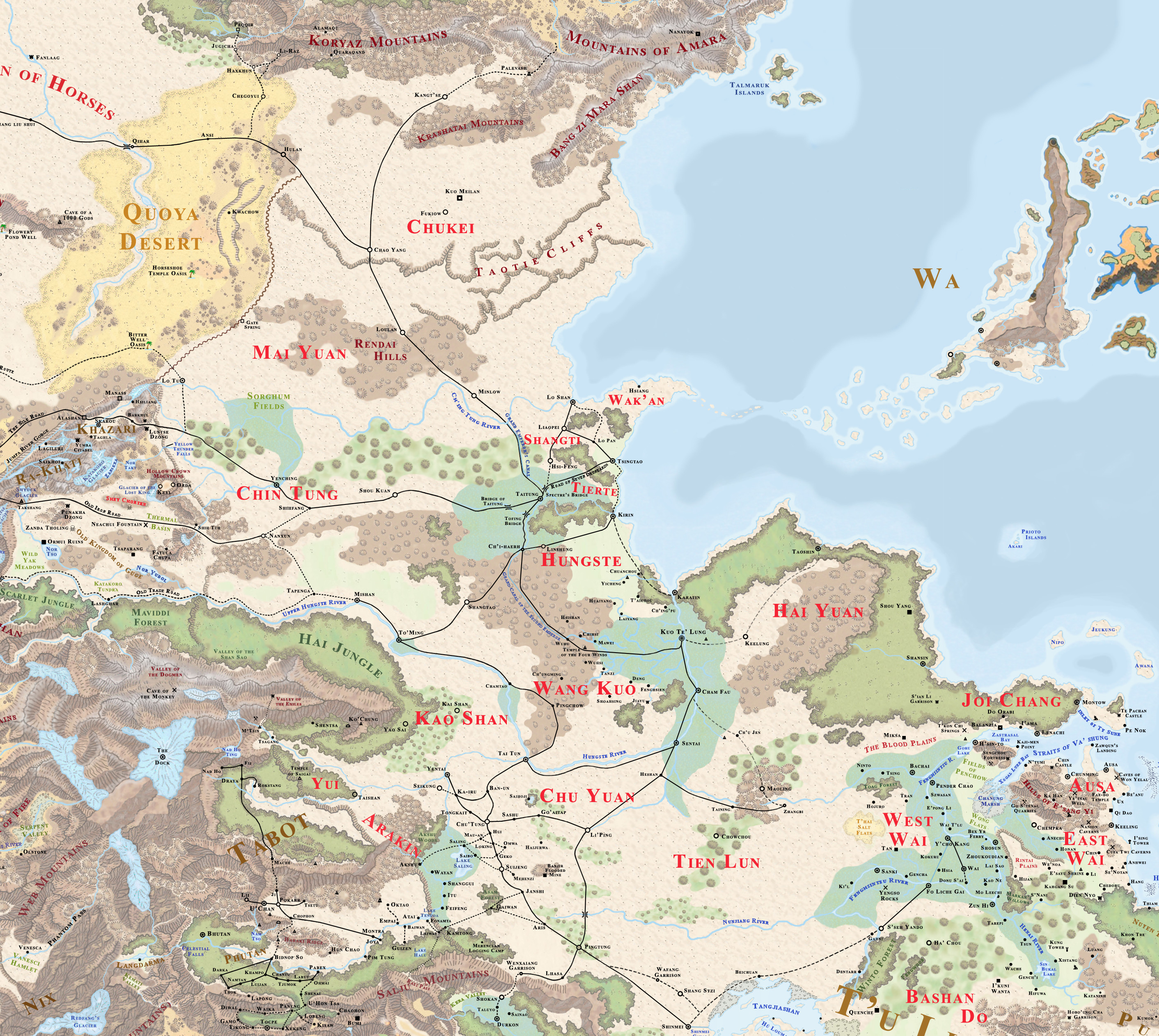 Kara tur forgotten realms wiki fandom powered by wikia the vast human empire of shou lung is undoubtedly the most powerful nation on the face of abeir toril the empire was started by a simple peasant known as gumiabroncs Image collections
