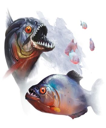 5e quipper swarm monsters dnd dragons monster dungeons tiny beast water beasts underwater armor creatures breathing beyond 1e fish hit