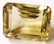 Faceted-citrine
