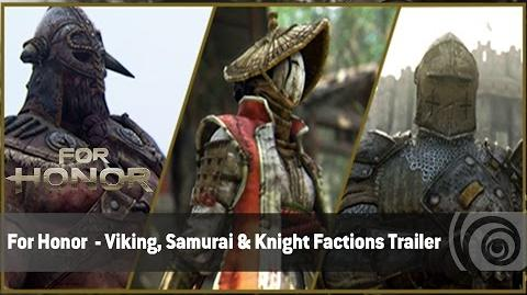 For Honor - Viking, Samurai & Knight - Tráiler de las Facciones ES