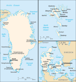 Map of the Danish Realm