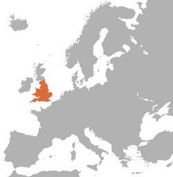 Location of England