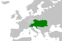Location of the Austrian Empire