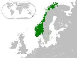 Map of Norway (proper)