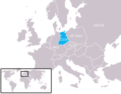 Location of East Germany