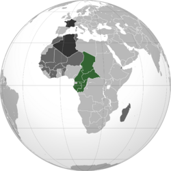 Map of French Equatorial Africa
