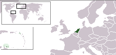 Location of the Kingdom of the Netherlands