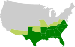 Map of the Confederate States