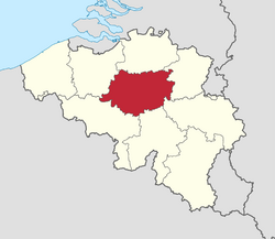 Map of the Province of Brabant