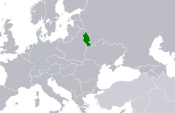 Location of the Byelorussian SSR (1922)