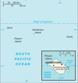 Map of Pitcairn