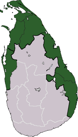 Map of Tamil Eelam