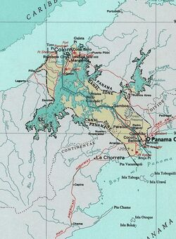 Map of the Panama Canal Zone