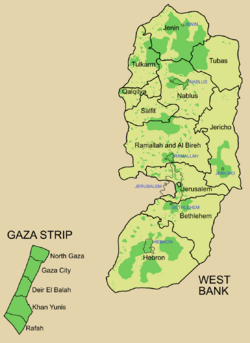 Map of the Palestinian territories