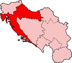 Map of SFRY Croatia