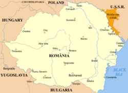 Map of Romania 1920
