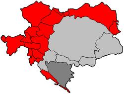 Map of Cisleithania