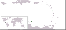 Location of the Caribbean Netherlands