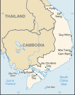 Map of South Vietnam