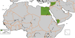 Map of United Arab States