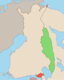 Map of the Finnish Democratic Republic