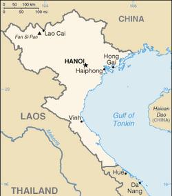 Map of North Vietnam